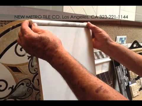 Shower Tile Design - How to Mix Ceramic Tile with Marble - New Metro Tile / Los Angeles