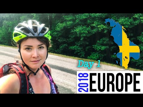 Europe VLOG Day 1 Sweden Scandinavia travel , starting another bike tour