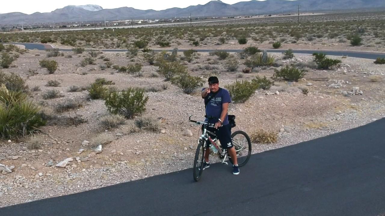 Dji Spark Active Track Bike Trail In Las Vegas Youtube