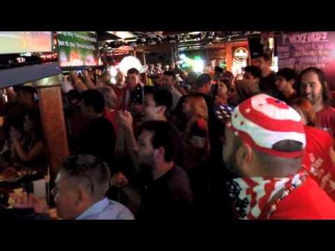 U.S. soccer  celebrate winning goal