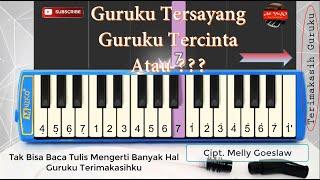 Guruku Tersayang Guruku Tercinta | Pianika Terimakasih Guruku | Notasi Guruku Tersayang Piano Cover