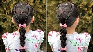 Peinado Para Ninas Trenzas Cruzadas Y Coletas Peinados Faciles Y