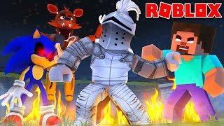 Lucha contra Foxy, Herobrine y Sonic.EXE Roblox Nightmare Fighters