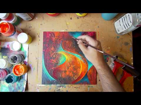 Abstract Painting Technique | Fine Art | Demo | Acrylic Art Series: Video 6
