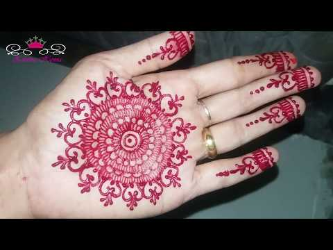 Tutorial On Henna In The Palm Learn Henna Easily And Quickly Youtube