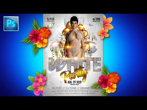 How To Make a Party Flyer in Photoshop Tutorials for Graphic Designers Flyer Design thumbnail