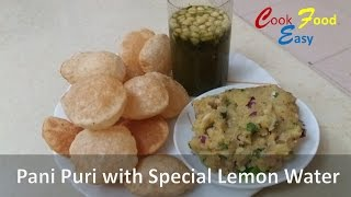 Pani Puri Recipe | Golgappa Recipe | Puchka | Puri recipe for PaniPuri or Golgappa masala water