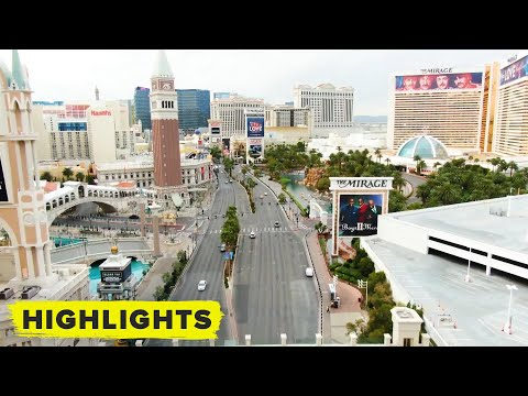 Watch Drone Footage Of All The Empty Streets In Vegas (coronavirus)