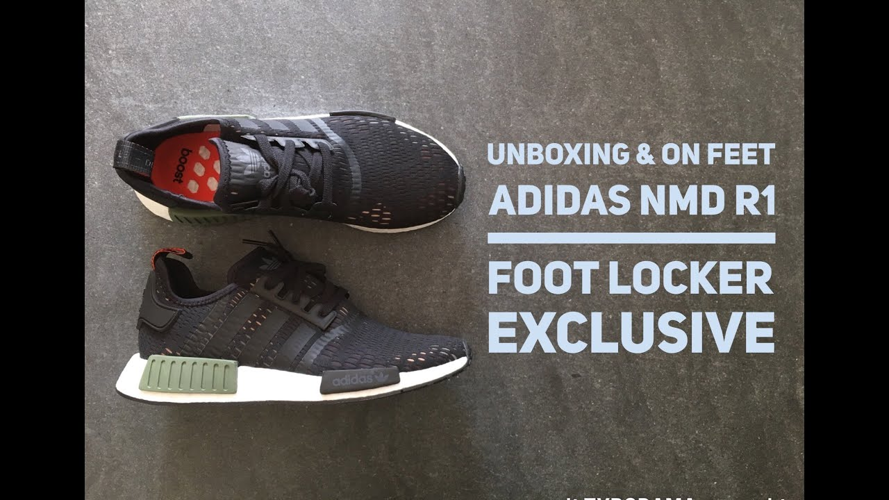 d39a25d7361b0 Adidas NMD R1 Foot Locker Exclusive Green Base Core Black