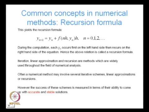 Mod-01 Lec-01 Introduction to Numerical Methods