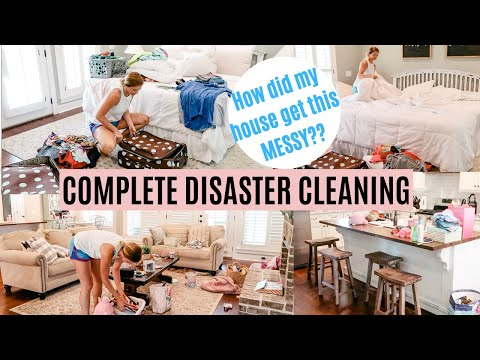 COMPLETE DISASTER SPEED CLEAN WITH ME 2019 // EXTREME CLEANING MOTIVATION // Amy Darley