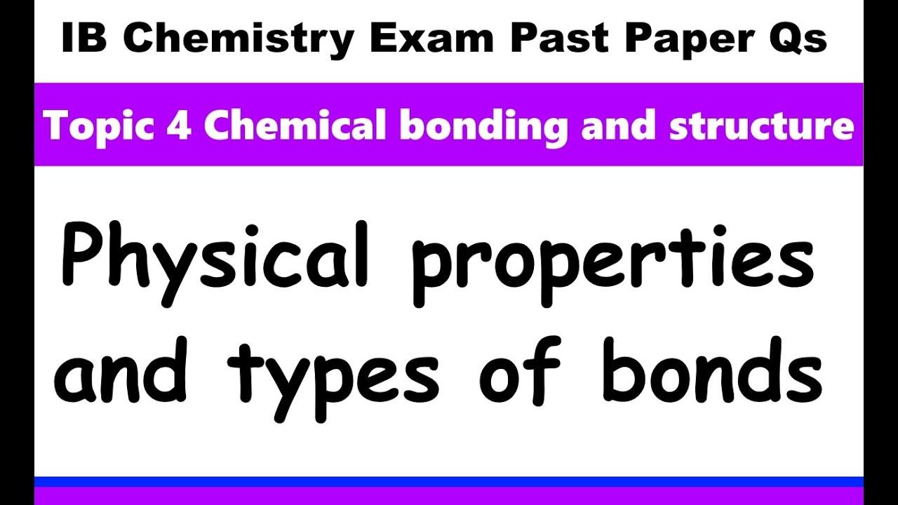 IB Chemistry Topic 4 Bonding - MrWeng's IB Chemistry