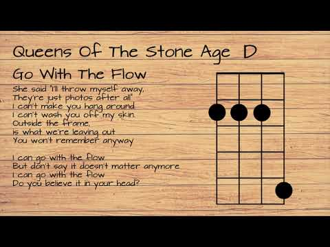 Queens Of The Stone Age - Go With The Flow UKULELE TUTORIAL W/ LYRICS