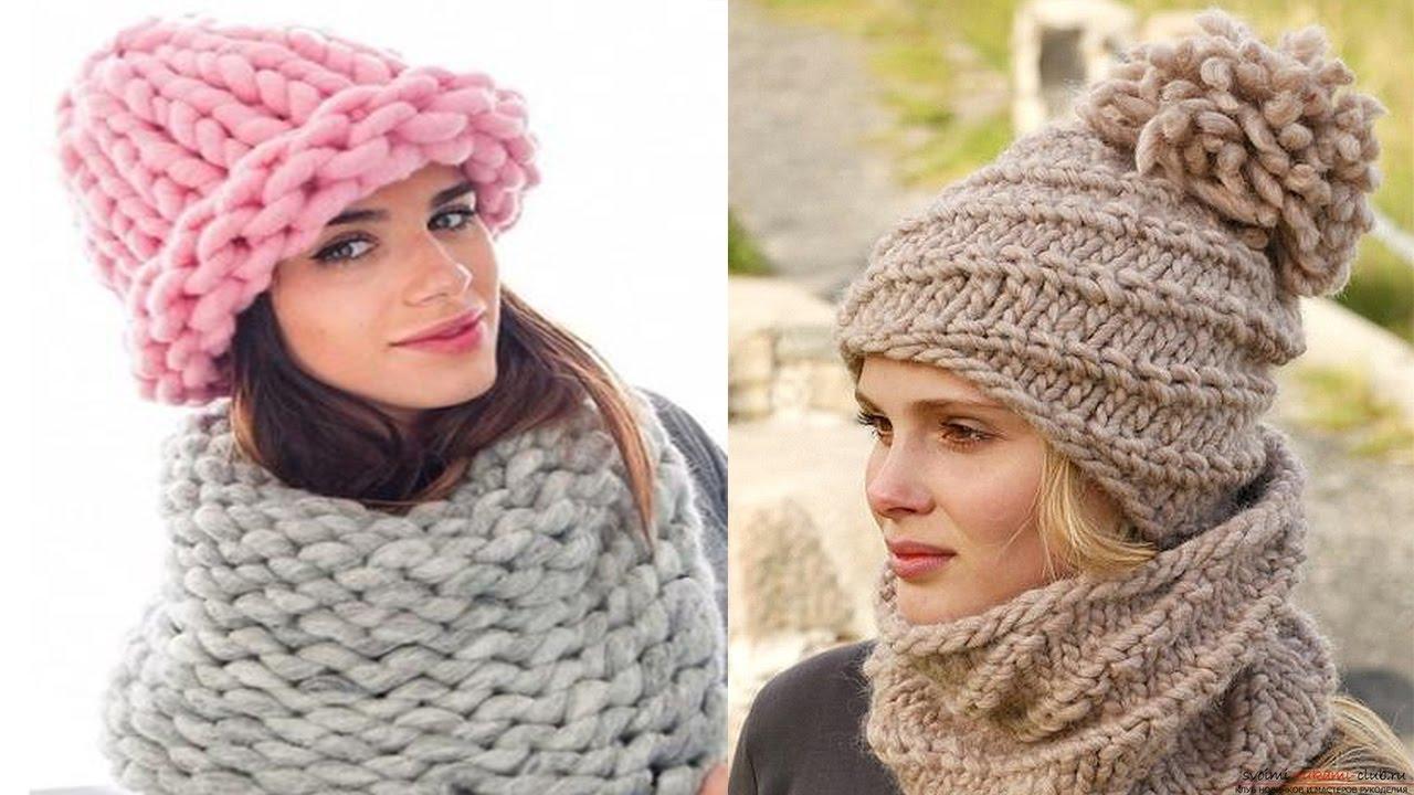 женские шапки крупной вязки идеи из интернета часть 2 Youtube