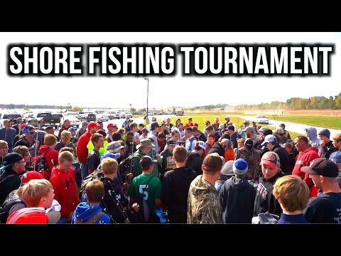 HUGE Shore Bass Fishing Tournament (131 Anglers)