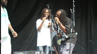 REGGAE RAINBOWS  (ft OMARI..10yr old) Caribbean day @ global rhythm 12/07/2014