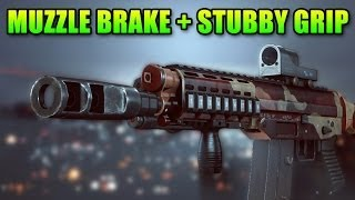 Stubby/potato Grip + Muzzle Brake Best Attachments Ever? (battlefield 4 Gameplay/commentary)