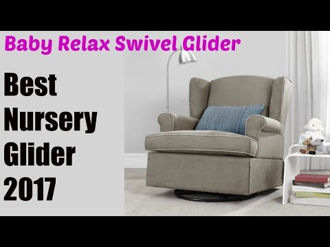 Baby Relax Swivel Glider, Dark Taupe | Best Nursery Gliders 2017