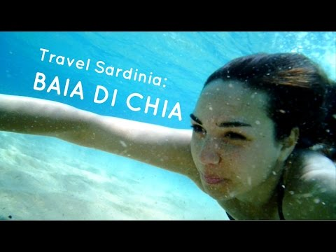 Travel Sardinia: Swimming at Baia di Chia