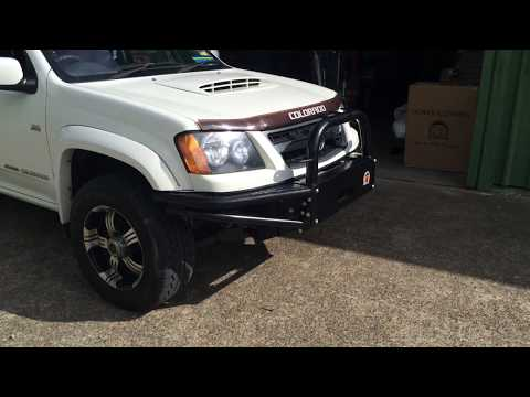Holden Colorado Xrox off road Steel Bull Bar winch compliant fitted at Outdoor Auto