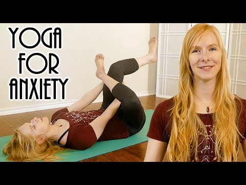 Stretch Away Anxiety with Katrina ♥ Deep Relaxation, Sleep, Stress Relief, Beginners Yoga