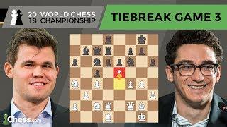 Carlsen vs Caruana (Tiebreak Game 3 Analysis)   World Chess Championship 2018