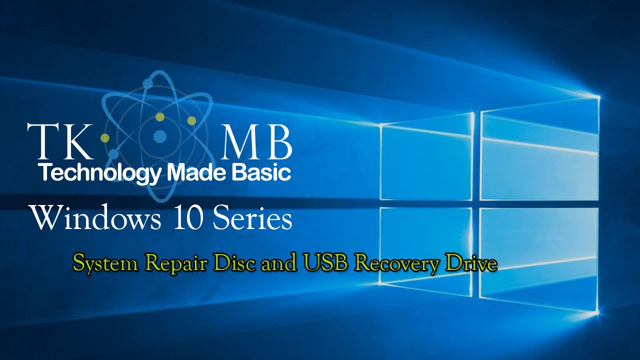 windows 10 system recovery disc