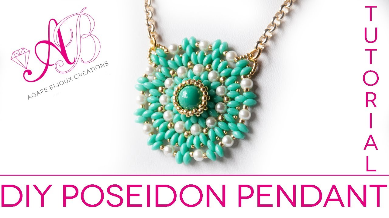 poseidon tutorial cerate diy ciondolo twin beads rocailles watch starlight perle pendant con e