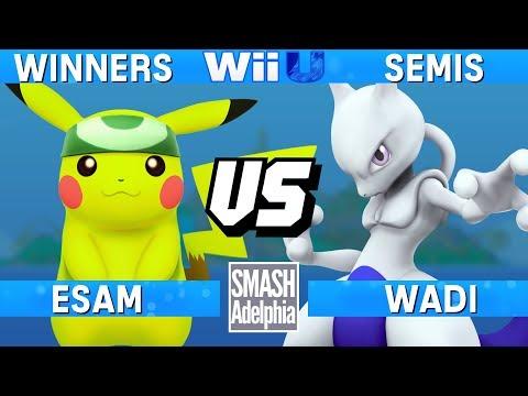 Smash 4 Wii U - ESAM (Pikachu) vs WaDi (Mewtwo) - SMASHADELPHIA 2017 Winners Semis