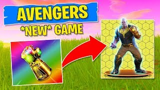 AVENGERS IN FORTNITE! *NEW* Gamemode Infinity Gauntlet (Play as Thanos!)
