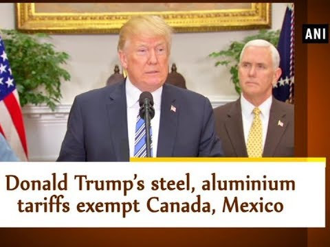 Donald Trump's steel, aluminium tariffs exempt Canada, Mexico - USA News