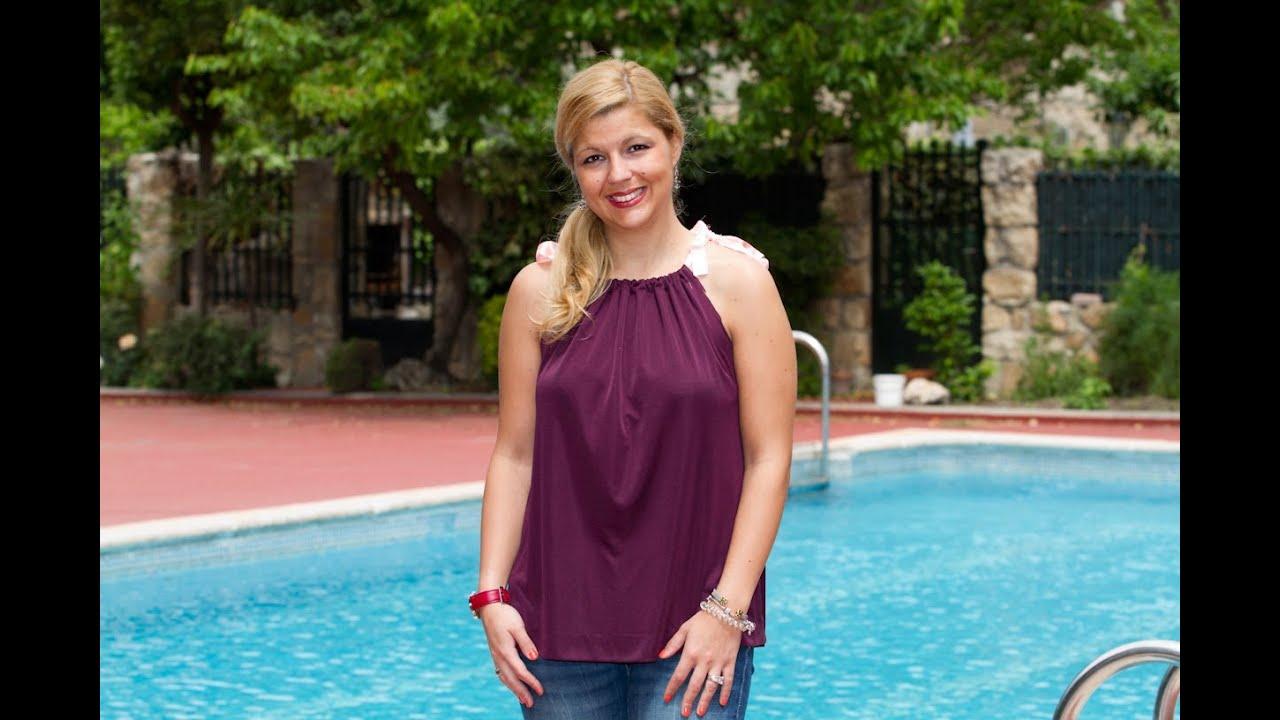 1bac8fe132 Como hacer un vestido o una blusa o un top con una falda vieja - YouTube