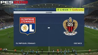 Pes 2018 (pc) lyon v nice | ligue 1 prediction | 19/5/2018 | 1080p 60fps