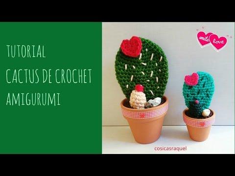 Cactus con flor grande tejido en crochet (amigurumi) Doovi