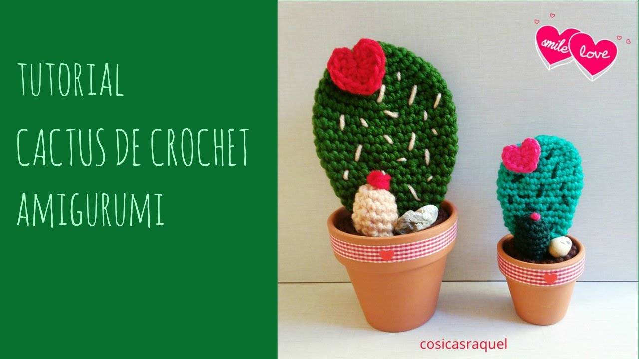 Amigurumi Cactus Paso A Paso : Tutorial cactus de crochet amigurumi youtube