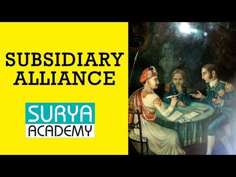 TNPSC Group 1 Modern India   Subsidiary Alliance