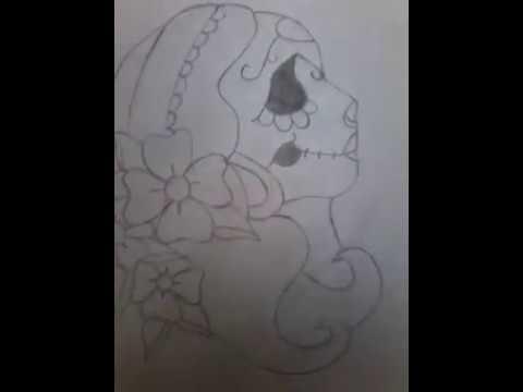 Como Desenhar Caveira Mexicana De Lado Tumblr Passo A Passo