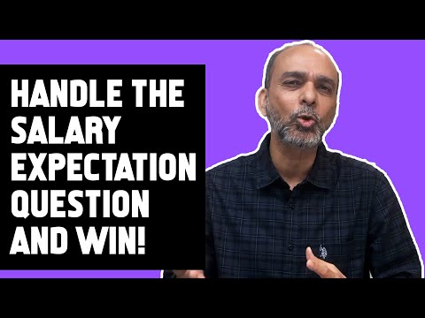 How to handle salary expectation question and win | ASPIRATION JOB MATTERS | SARABJEET SACHAR