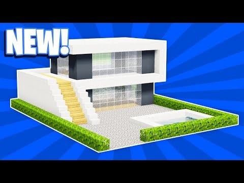 MINECRAFT: HOW TO BUILD A SMALL MODERN HOUSE TUTORIAL (#17)(PC/XboxOne/PS4/PE/Xbox360/PS3)