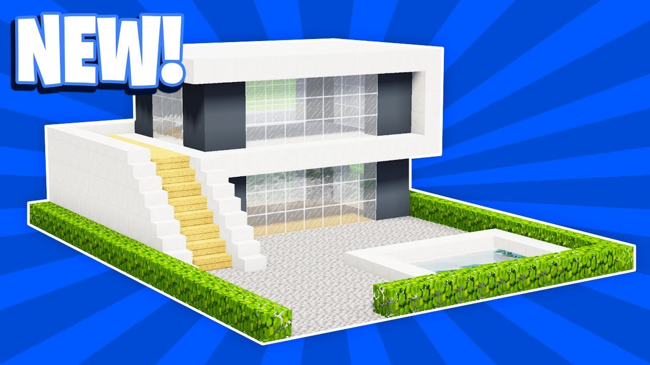 Minecraft How To Build A Small Modern House Tutorial 17 Pc