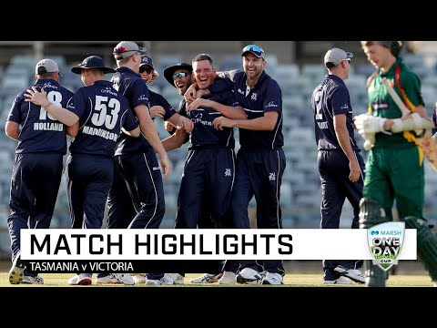 Highlights: Tasmania V Victoria, Marsh One-Day Cup 2019