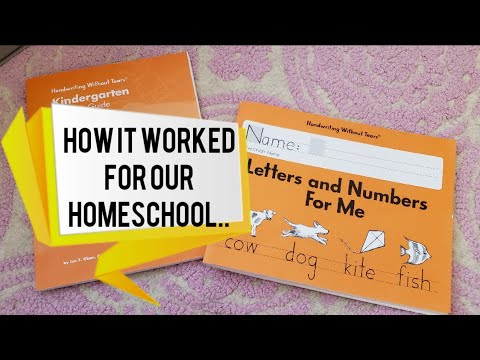 Handwriting without Tears/how it worked in our homeschool