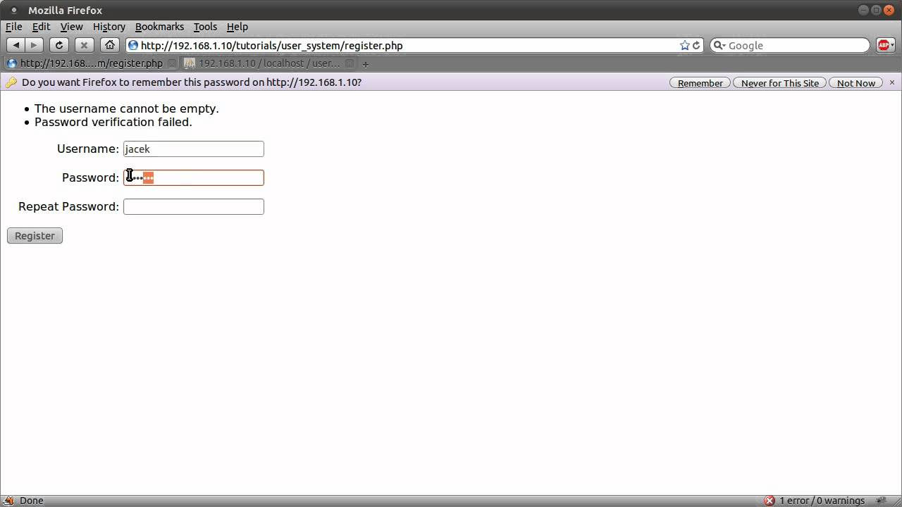 Creating a simple yet secured login/registration with php5 php.