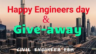 Happy Engineers Day | giveaway | lapping for diffrent grades of concrete  || civil engineer FBH