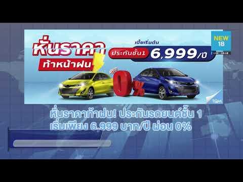 ประกันรถยนต์ชั้น 1 ราคา 6,999 บาท/ปี ผ่อน 0%
