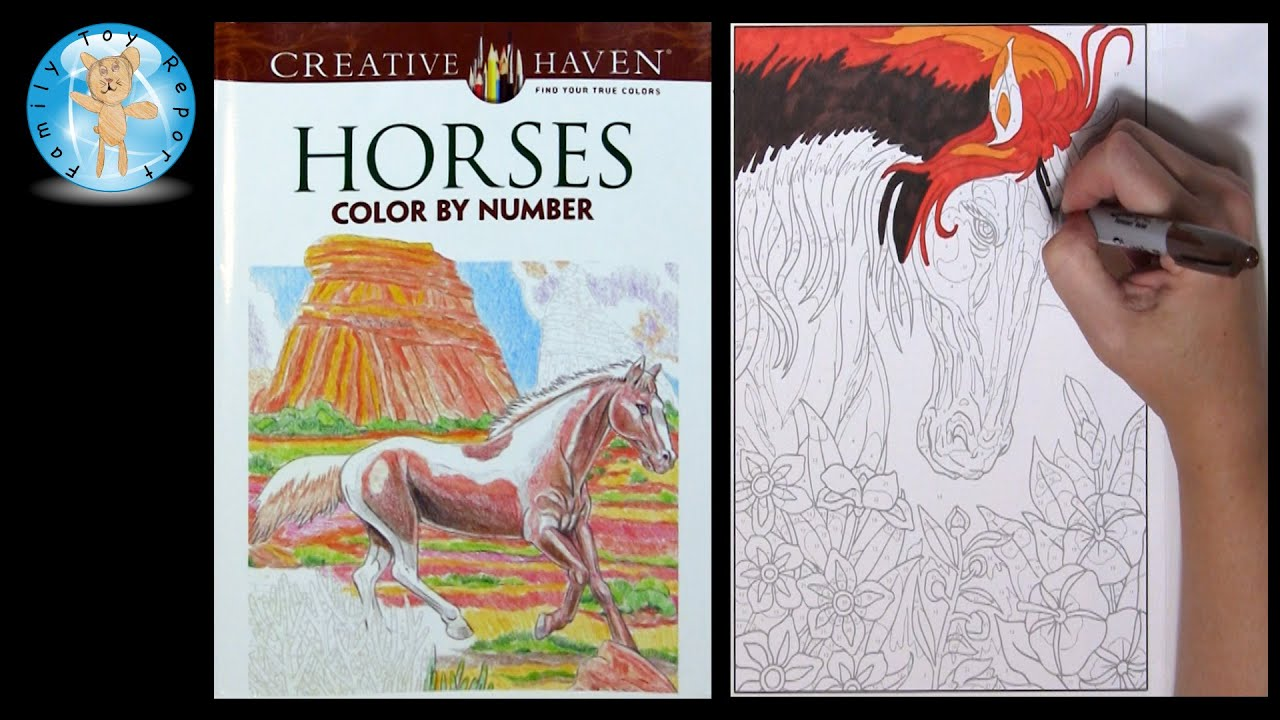 Creative Haven Horses Adult Coloring Book Color by Number - Family ...