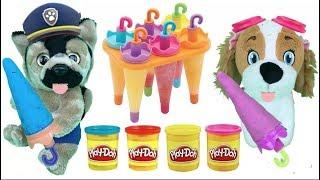 Juguetes paw patrol español: helados de plastilina play doh.Aprender colores con patrulla canina