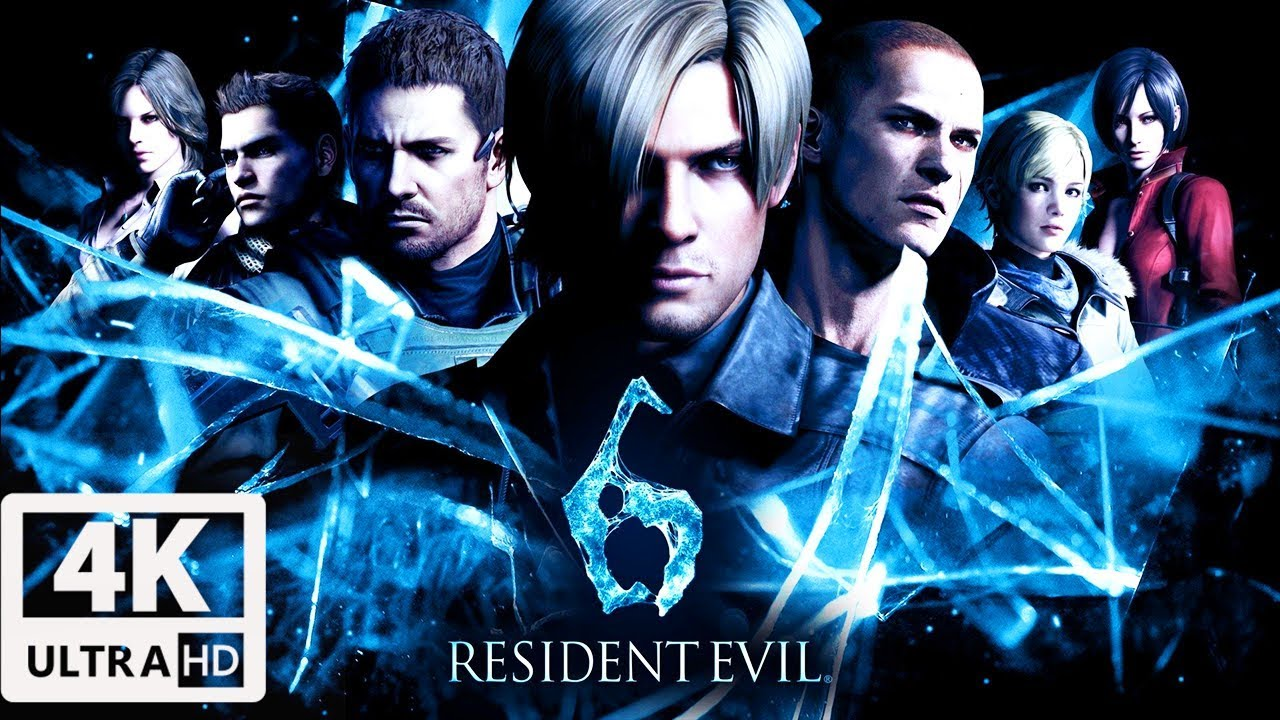 Resident Evil 6 All Cutscenes In 4k Leon Edition Game Movie 60fps Uhd Youtube
