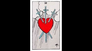 3 Of Swords Tarot Teaching!!!!  Three (III) of Swords – Heartbreak, Tears, Angry Words