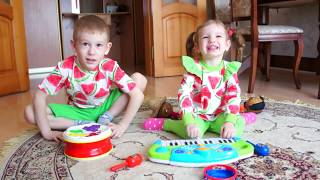 Kids Pretend Play with Dolls and Musical Instruments Toys | Compilation video for kids